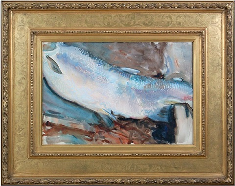study of a salmon by john singer sargent