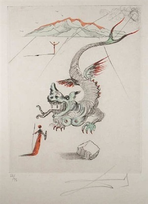 the green dragon by salvador dalí