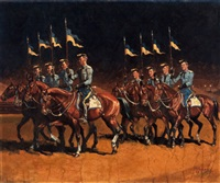 parade cavalry by don louis perceval