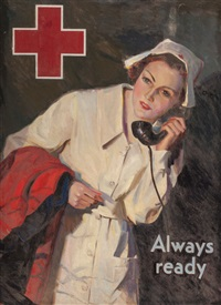 always ready, probable red cross advertisement by lawrence nelson wilbur