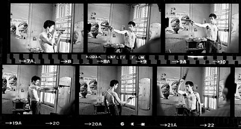 """taxi driver"", de niro taxi driver contact sheet, new york by steve schapiro"