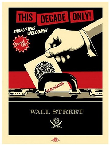 shoplifters welcome (red/black/cream) by shepard fairey