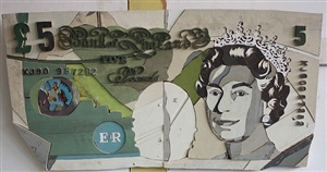 five pound note by diederick kraaijeveld