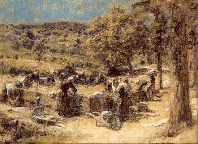 lavandieres en provence by léon augustin l'hermitte