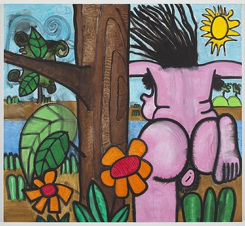 bathers seven (running) by carroll dunham