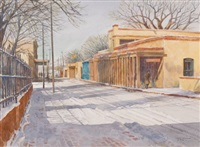palace avenue, santa fe by james kramer