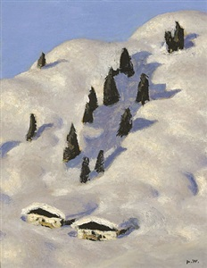 almen im schnee by alfons walde