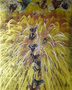 feu d'artifice aux papillons ii by kyosuke tchinai