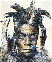 portrait of jean-michel basquiat 2 by makoto saito