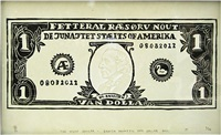 the villy dollar - danish phonetic one dollar bill by søren behncke