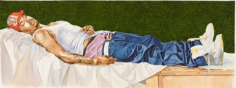 le christ mort couché sur son linceul by kehinde wiley