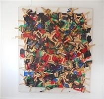 accumulation de pinceaux sur toile by arman