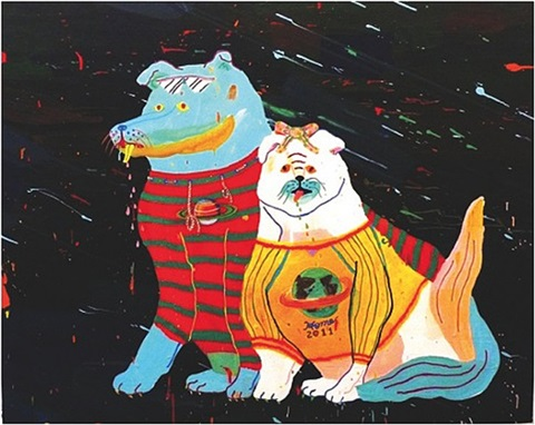 universal couple (two dogs) by misaki kawai
