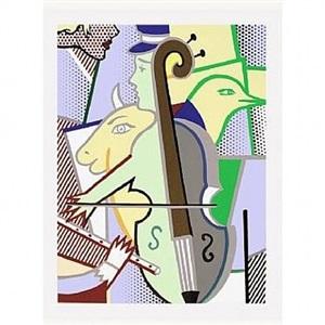 cubist cello corlett 311 by roy lichtenstein