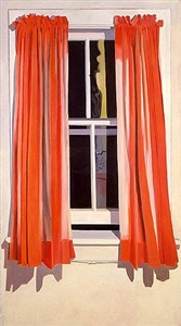night window - red by lois dodd