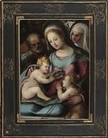 holy family with saint john the baptist and saint catherine of siena by arcangelo di leonardo salimbeni