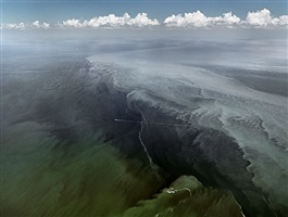 oil spill #13, mississippi delta, gulf of mexico, june 24, 2010 by edward burtynsky
