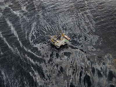 oil spill #3, development driller iii, gulf of mexico, may 11, 2010 by edward burtynsky
