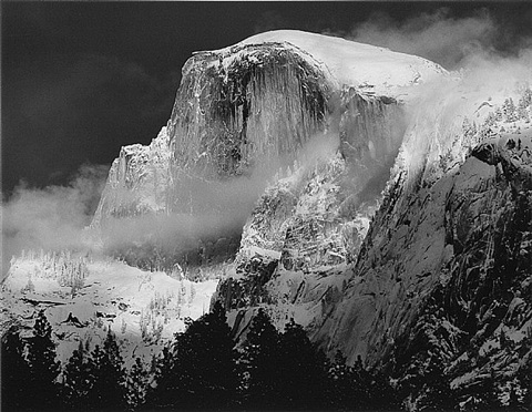 portrait of half dome, yosemite national park, ca by bob kolbrener