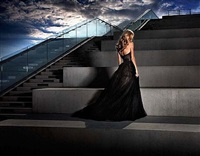 the girl in the black dress by david drebin