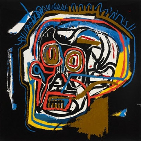 untitled head by jean-michel basquiat