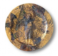vitruvian man wall plate after leonardo da vinci by robert arneson