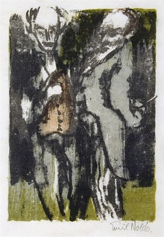 elderly gentlemen by emil nolde