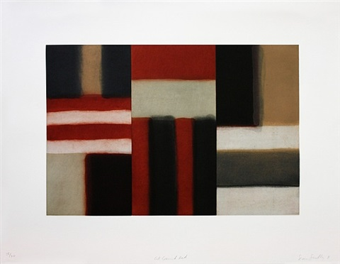 cut ground red by sean scully