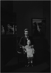 installation view: damek and vavrinek bozidar, artist unknown, 2031, gelatin silver prints and mixed media, dimensions variable by andrew sendor