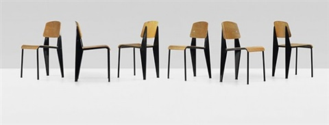 chairs (set of 6) by jean prouvé