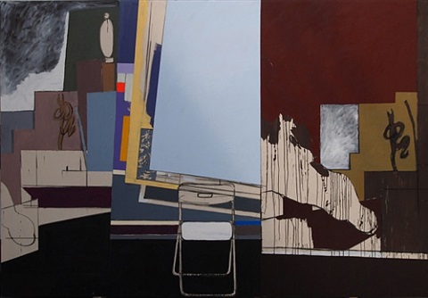 two henrys, two barrys, a constantine and a chair by bruce mclean