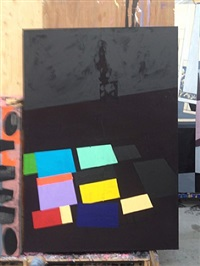 a painting of a sculpture no. 2 by bruce mclean