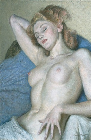 sleeping nude by dame laura knight