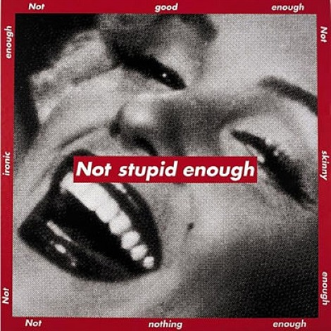 not stupid enough by barbara kruger