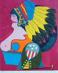 miss american indian (from the after noon portfolio) by richard lindner