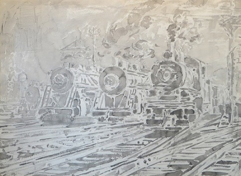 locomotives by reginald marsh