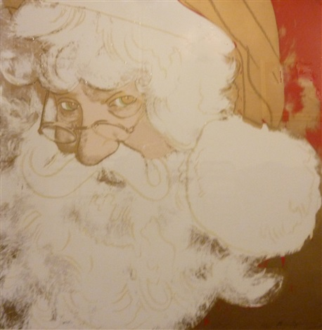 santa claus from the myths portfolio by andy warhol