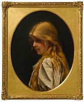 girl with red hair by walter i. cox