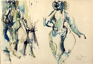 "study for ""dante's paradise"" by norman bluhm"