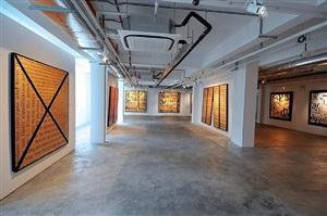 installation view - bernar venet 8 by bernar venet