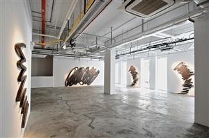 installation view - bernar venet 7 by bernar venet