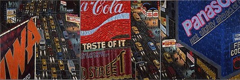times square triptych ii by yvonne jacquette