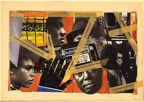 110th street harlem blues by romare bearden