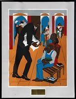 to the defense by jacob lawrence