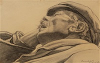 dozing man by carl link