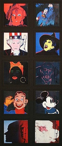 myths (portfolio of 10) invitation by andy warhol