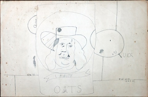 untitled quaker oats by christopher wool