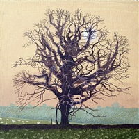 oak in respryn valley by annie ovenden
