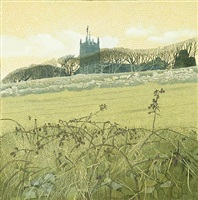 st dennis church by annie ovenden