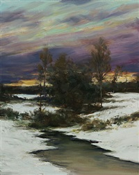 close of winter's day (sold) by dennis sheehan